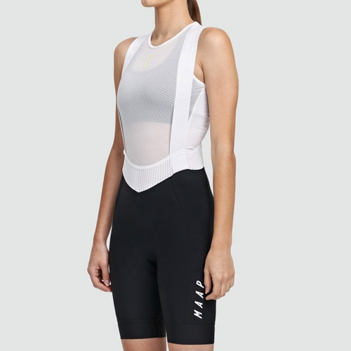 W.TEAM BIB SHORT EVO BLK/WHT
