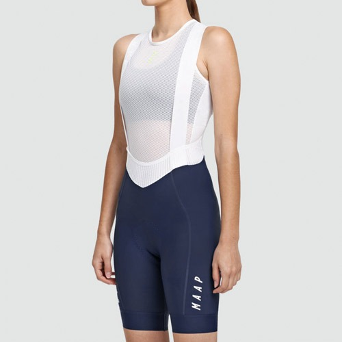 W.TEAM BIB SHORT EVO NAVY/WHT